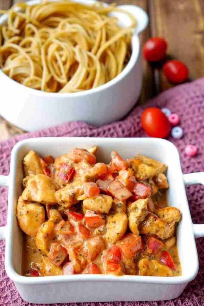 Schnelle Hähnchen-Paprika-Pfanne – ein einfaches Familienrezept
