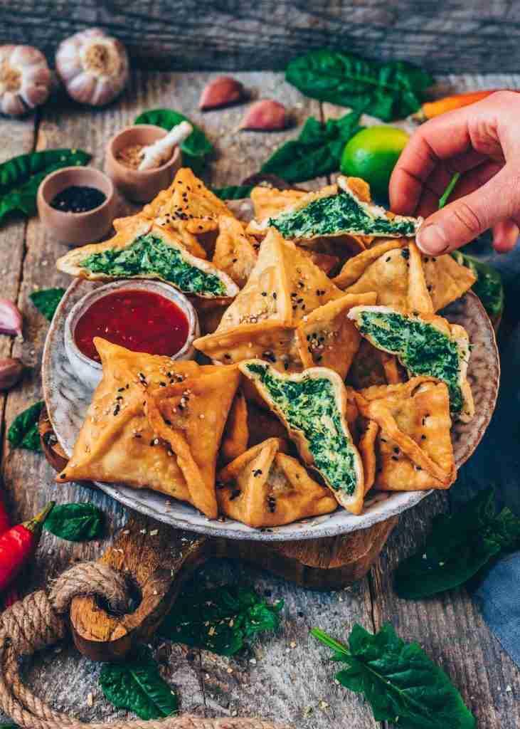 Spinach Artichoke Wontons | Vegan Recipe – Bianca Zapatka | Recipes
