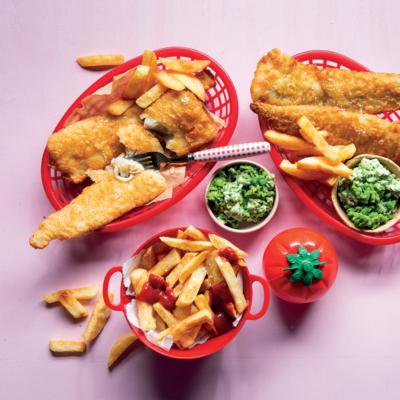 Taste Mag | Crispy tempura hake with twice-fried home-made chips @ taste.co.za/….