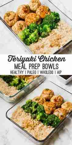 Teriyaki Chicken Meatball Meal Prep (Paleo, Whole30, AIP) – Unbound Wellness