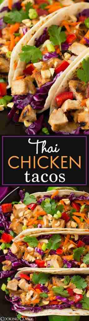 Thai Chicken Tacos with Peanut Sauce – Cooking Classy