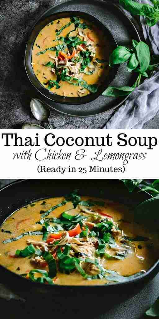 Thai Coconut Soup with Chicken and Lemongrass