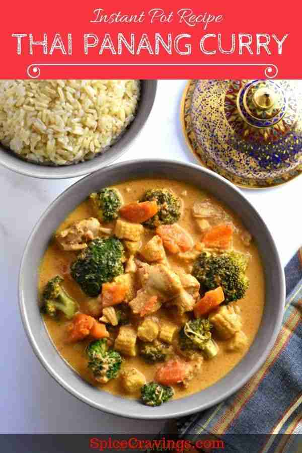 Thai Panang Curry in Instant Pot