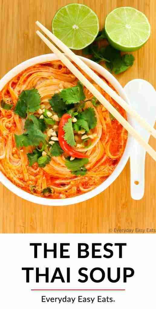 Thai Spicy Noodle Soup (Vegetarian & Vegan)