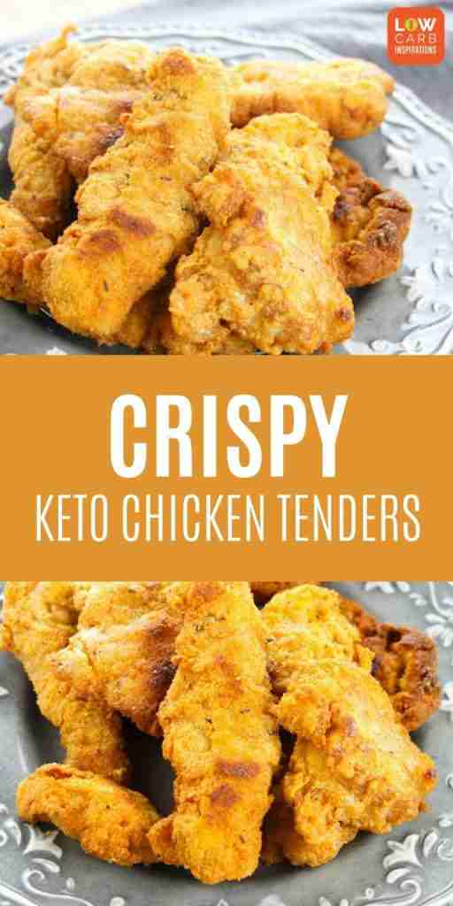 The BEST Keto Crispy Chicken Tenders with amazing flavor!!