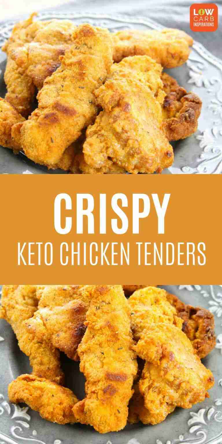The BEST Keto Crispy Chicken Tenders with amazing flavor!!