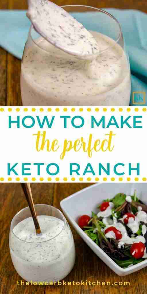 The Perfect Keto Friendly Ranch Dressing ~ with Mix and Dip Directions