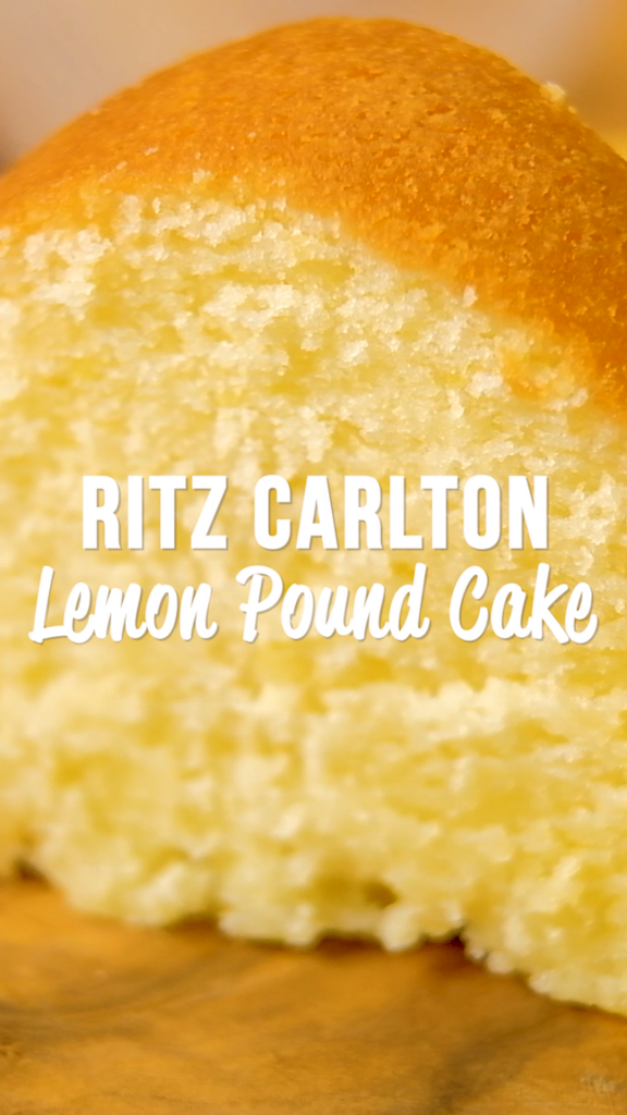 The Ritz Carlton Lemon Pound Cake