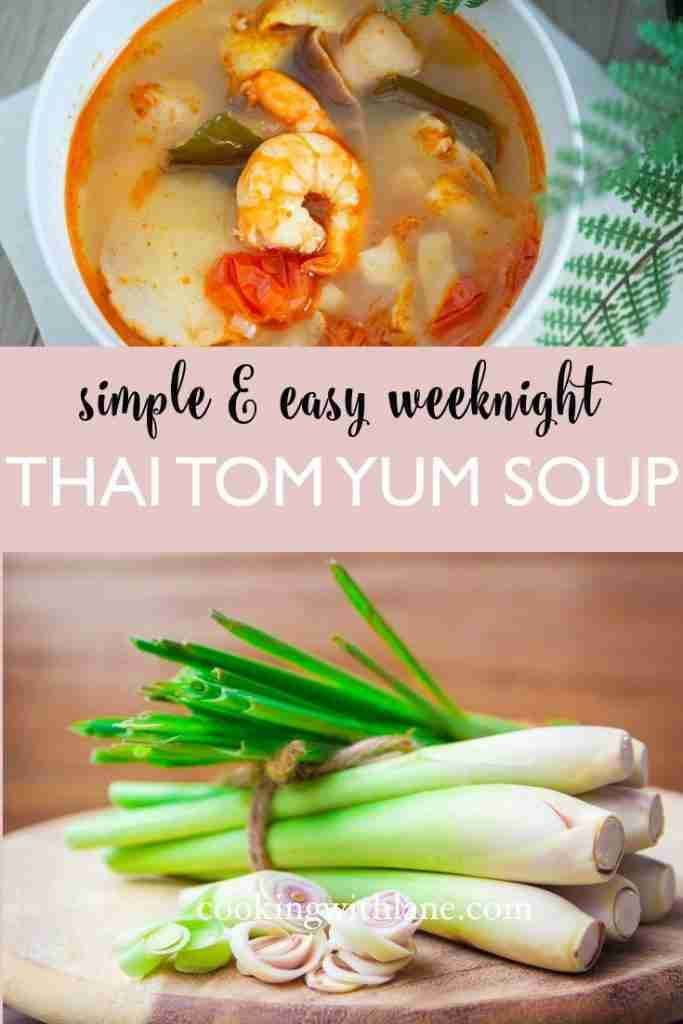 Tom Yum with Shrimp & Chicken – Easy Thai Soup Under 30 Minutes!