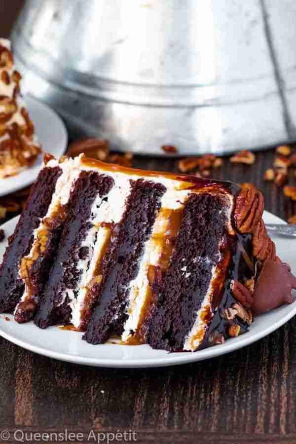 Turtle Chocolate Layer Cake ~ Recipe | Queenslee Appétit