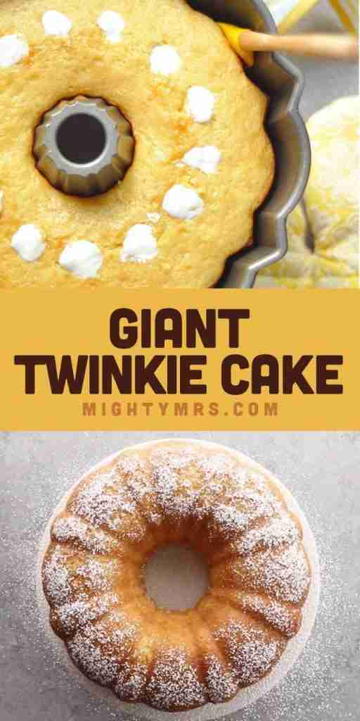 Twinkie Bundt Cake | Mighty Mrs