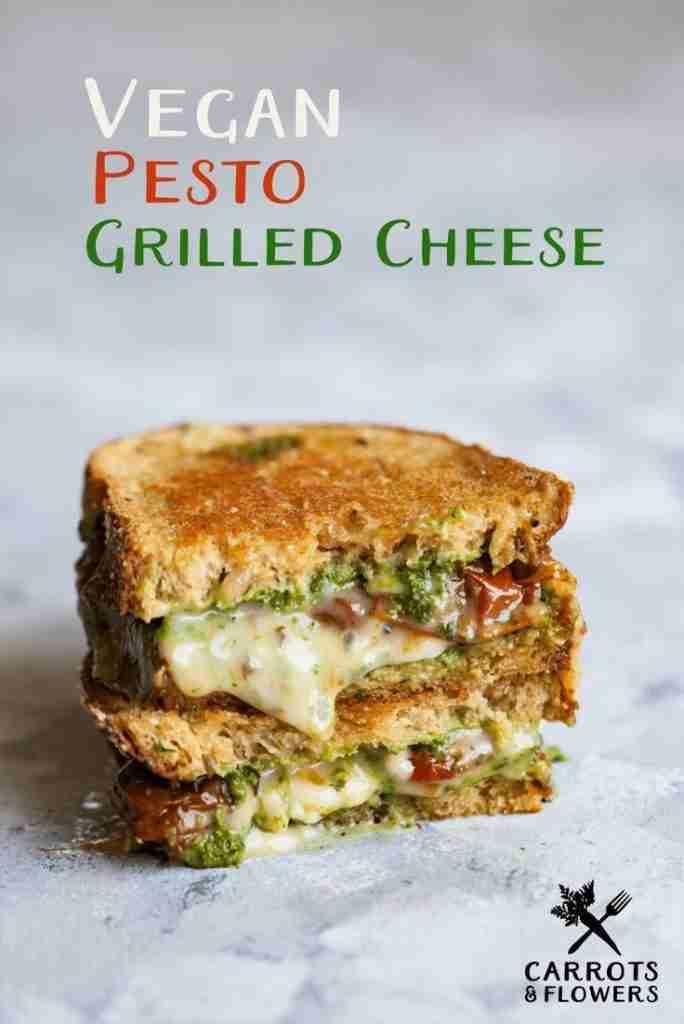 Vegan Pesto Grilled Cheese | Carrots & Flowers