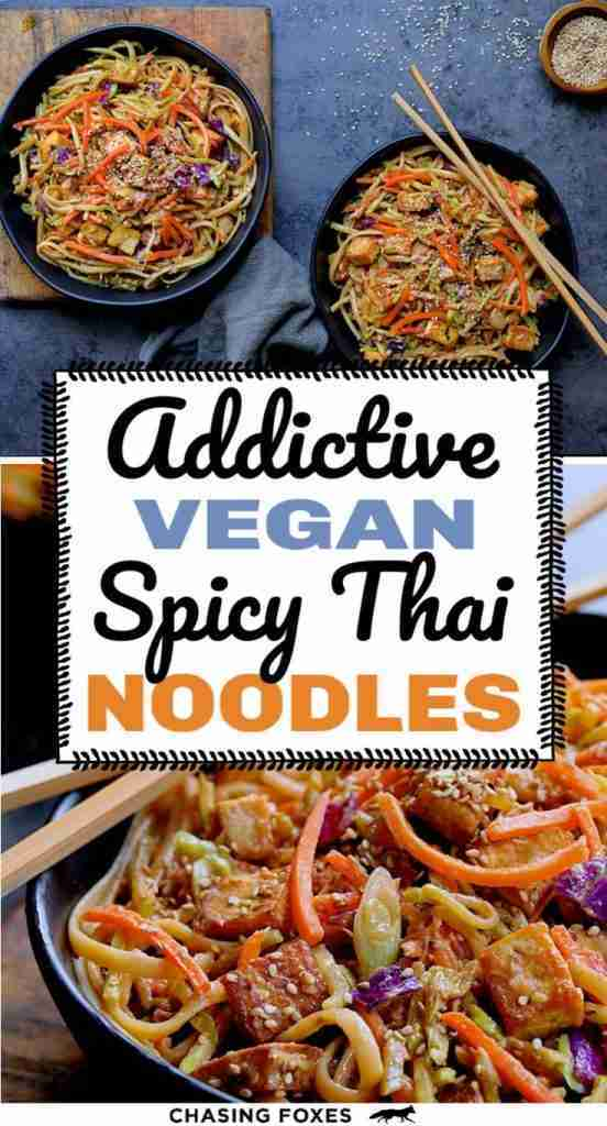 Vegan Thai Noodles That Are Spicy & Addictive