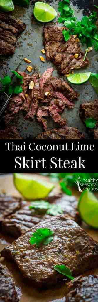 thai coconut lime grilled skirt steak