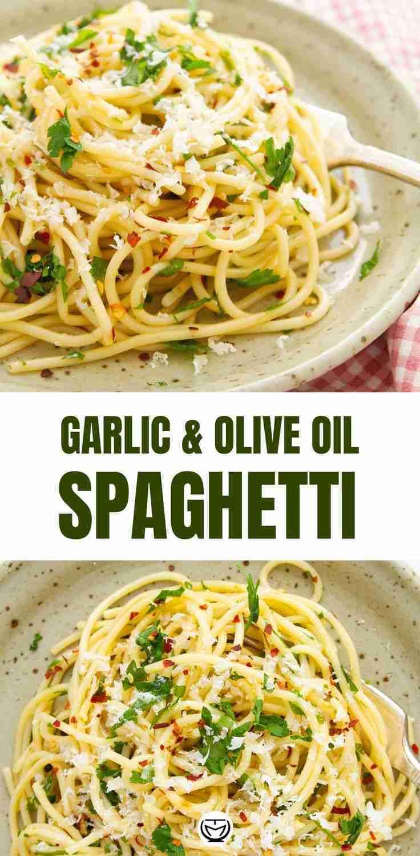 10-Minute Garlic  Olive Oil Spaghetti