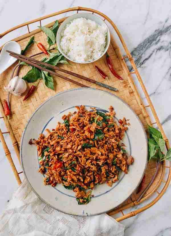 10-Minute Vegan Pad Krapow (Thai Basil Stir-fry)