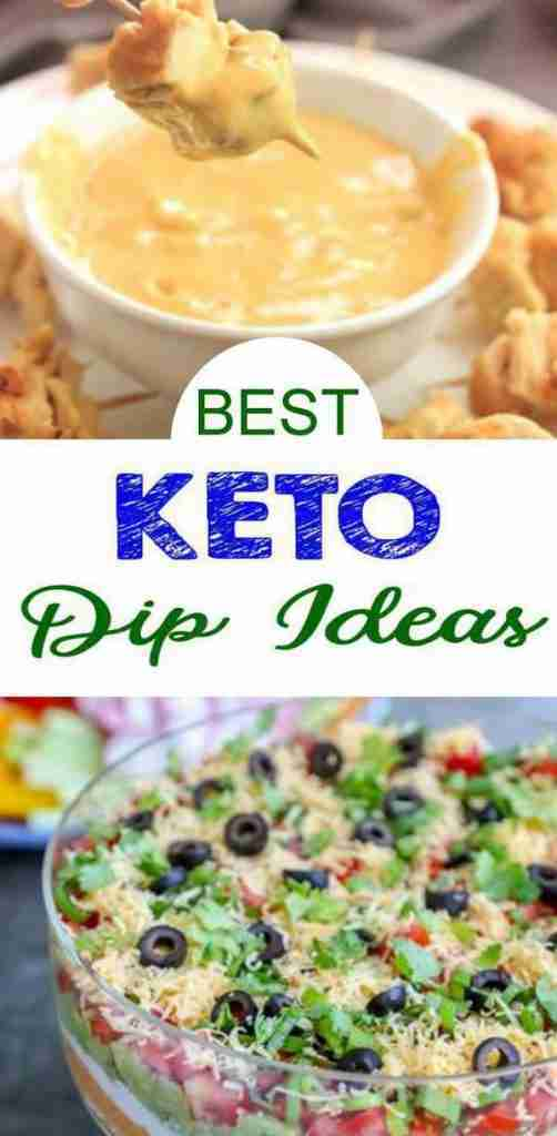 12 Keto Dips- Easy Low Carb Ideas – BEST Keto Dips For Appetizers – Parties – Potluck – Simple & Quick Ketogenic Diet Recipes