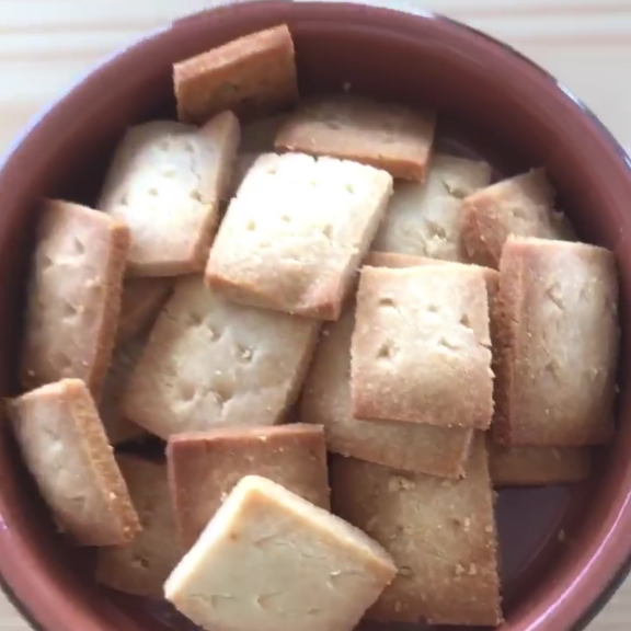 2 Ingredient Parmesan Cheese Crackers – Creative Healthy Family