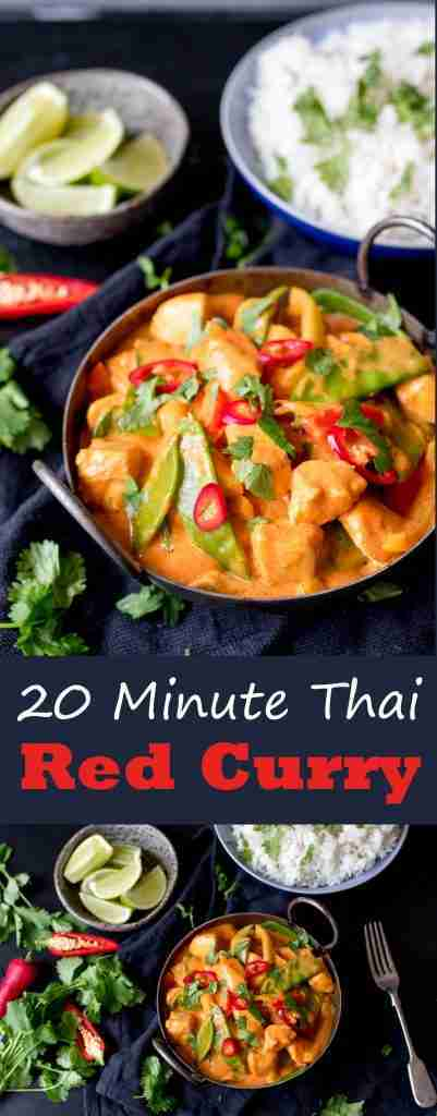 20 Minute Red Thai Curry Recipe With Extra Vegetables