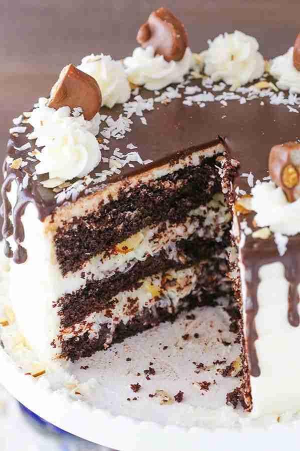 Almond Joy Layer Cake | Chocolate Coconut & Almond Cake Recipe