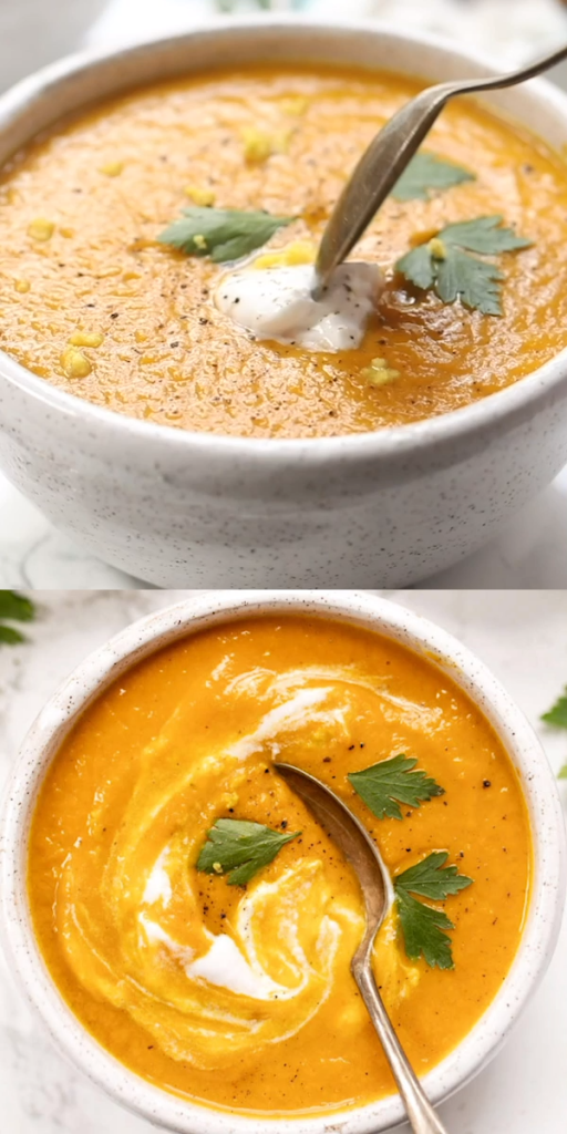 Anti-Inflammatory Ginger & Turmeric Carrot Soup
