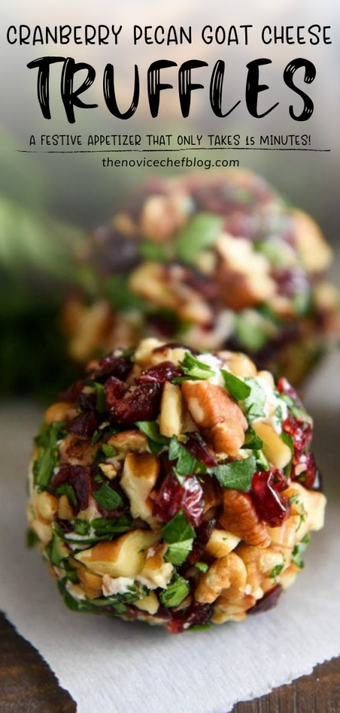 CRANBERRY PECAN GOAT CHEESE TRUFFLES