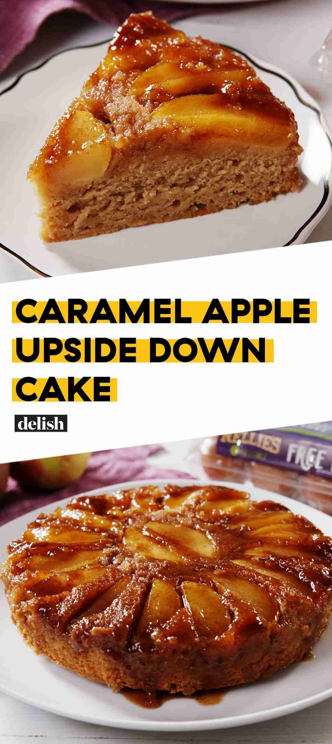 Caramel Apple Upside Down Cake Is The PERFECT Fall Dessert