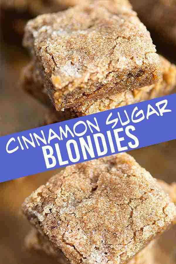 Cinnamon Sugar Blondie Recipe   Buns In My Oven