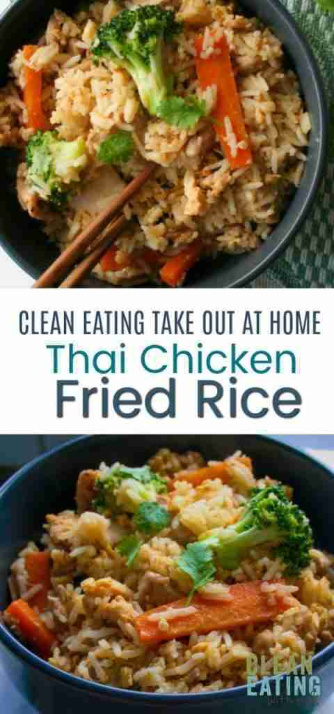 Clean Eating Thai Chicken Fried Rice – Clean Eating with kids