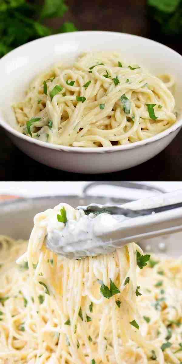 Creamy 4 Cheese Spaghetti