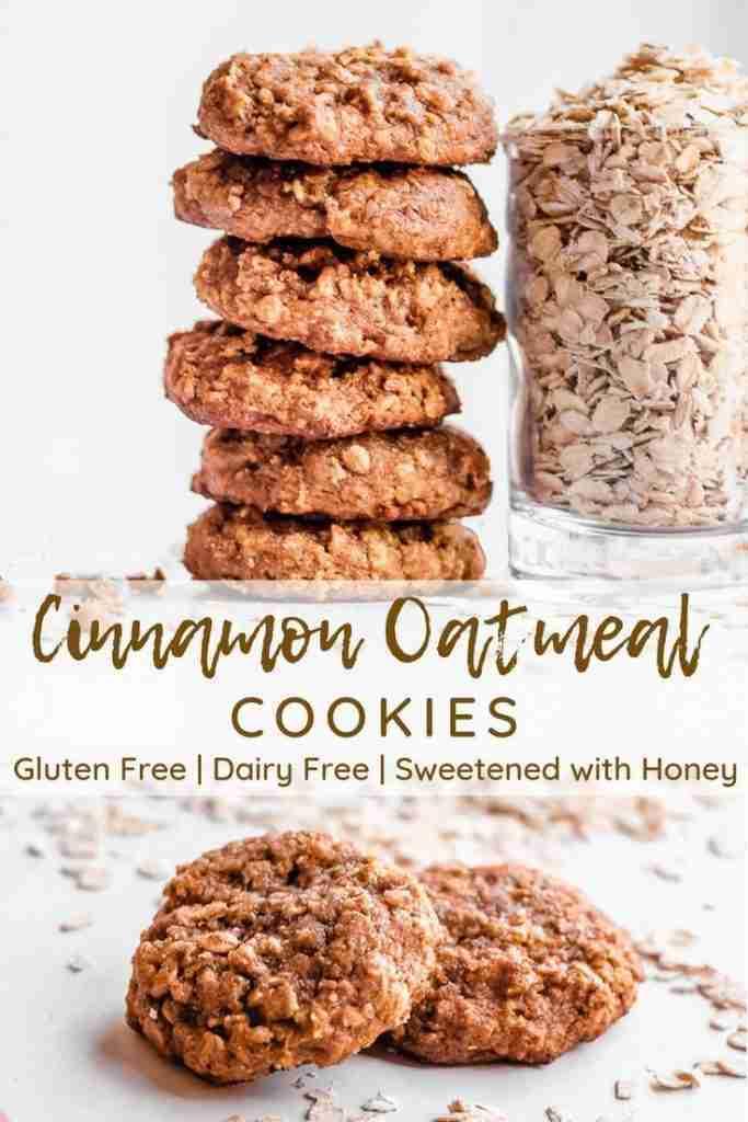 Easy Cinnamon Oatmeal Cookies (gluten free, dairy free, sweetened with honey) – Simply Jillicious