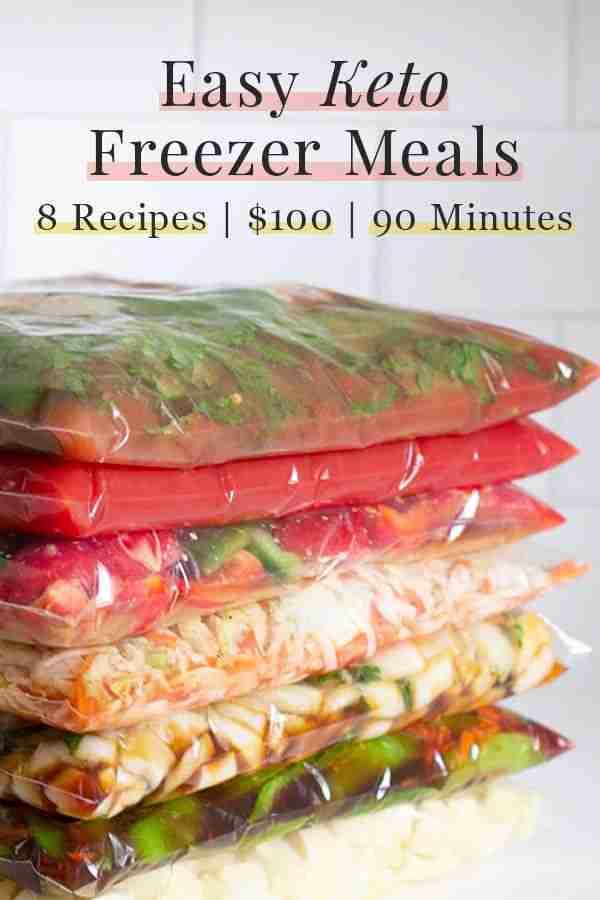 Easy Keto Freezer Meals: 8 Recipes, 90 Minutes, $100
