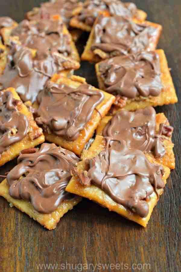 Easy Saltine Cracker Toffee Recipe – Shugary Sweets
