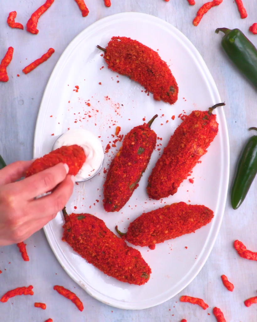 Flaming Hot Cheetos Jalapeno Poppers