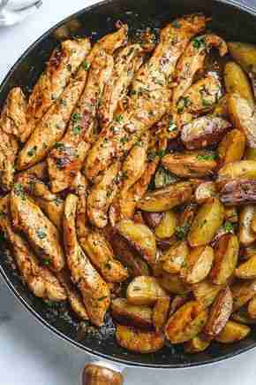 Garlic Butter Chicken and Potatoes Recipe – How To Make Garlic Butter Chicken Recipe