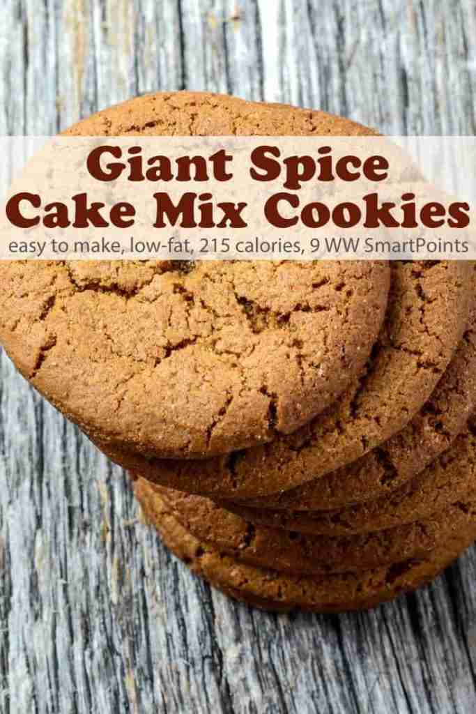 Giant Low-Fat Spice Cake Mix Cookies Recipe | Simple Nourished Living
