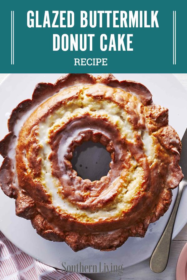 Glazed Buttermilk Donut Cake