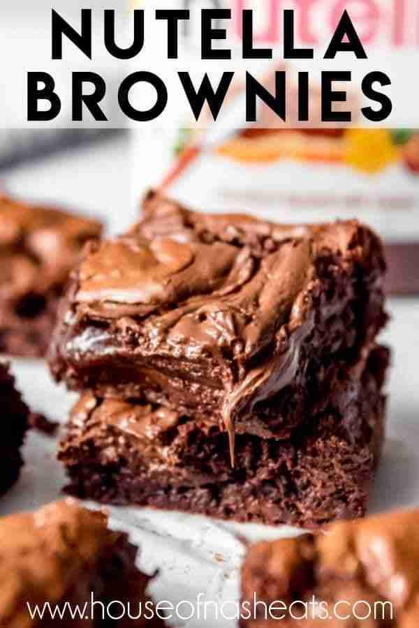 Gooey Swirled Nutella Brownies