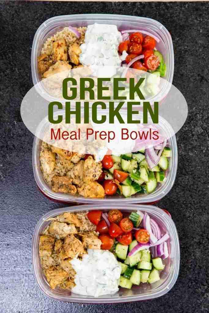 Greek Chicken Bowls (Meal Prep Easy) – Easy Peasy Meals