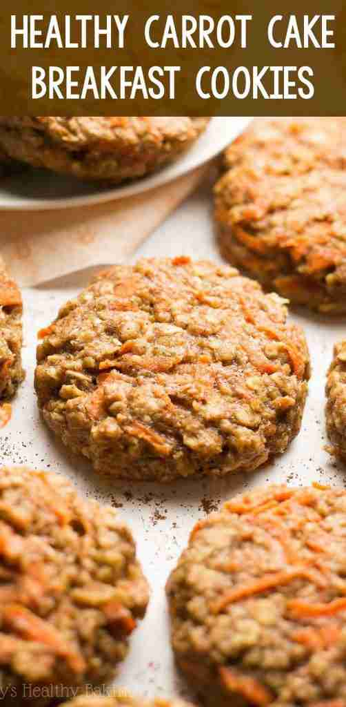 Healthy Carrot Cake Oatmeal Breakfast Cookies