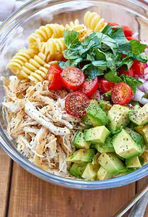 Healthy Chicken Pasta Salad Recipe with Avocado – Chicken Pasta Salad Recipe