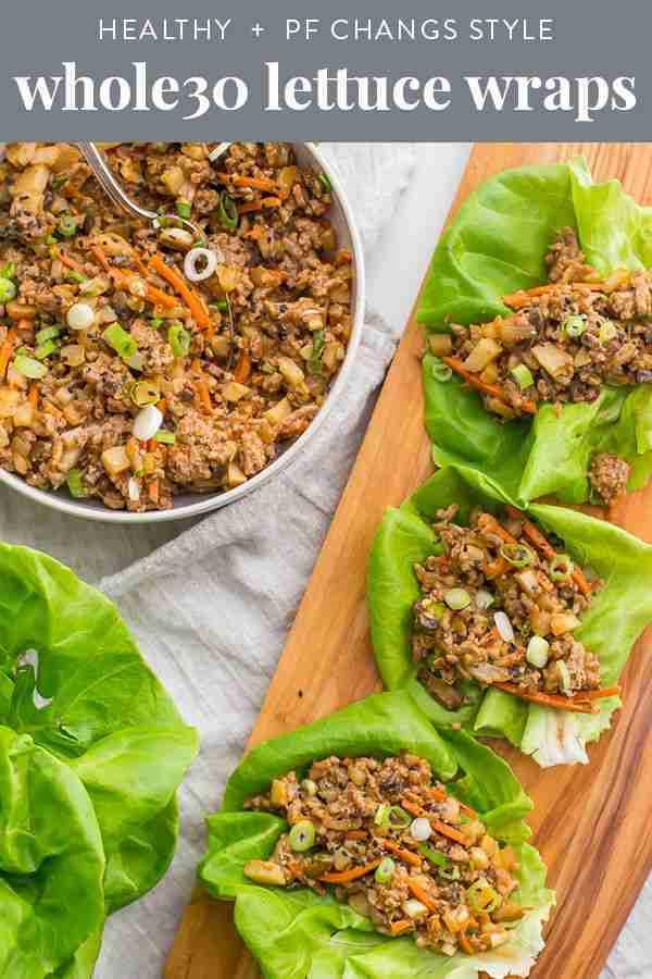 Healthy Lettuce Wraps – PF Changs Recipe (Whole30, Paleo)