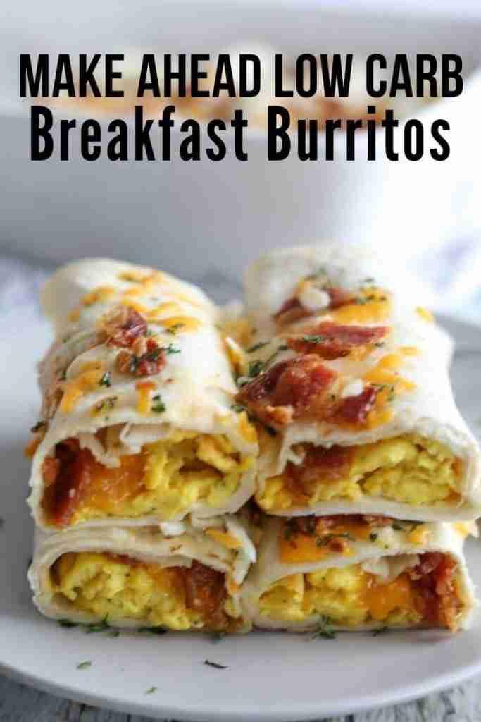 Healthy Low Carb Breakfast Burritos