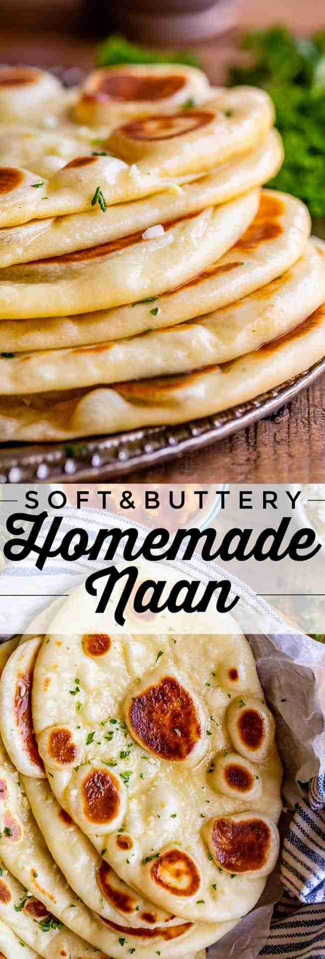 Homemade Naan Bread Recipe from The Food Charlatan