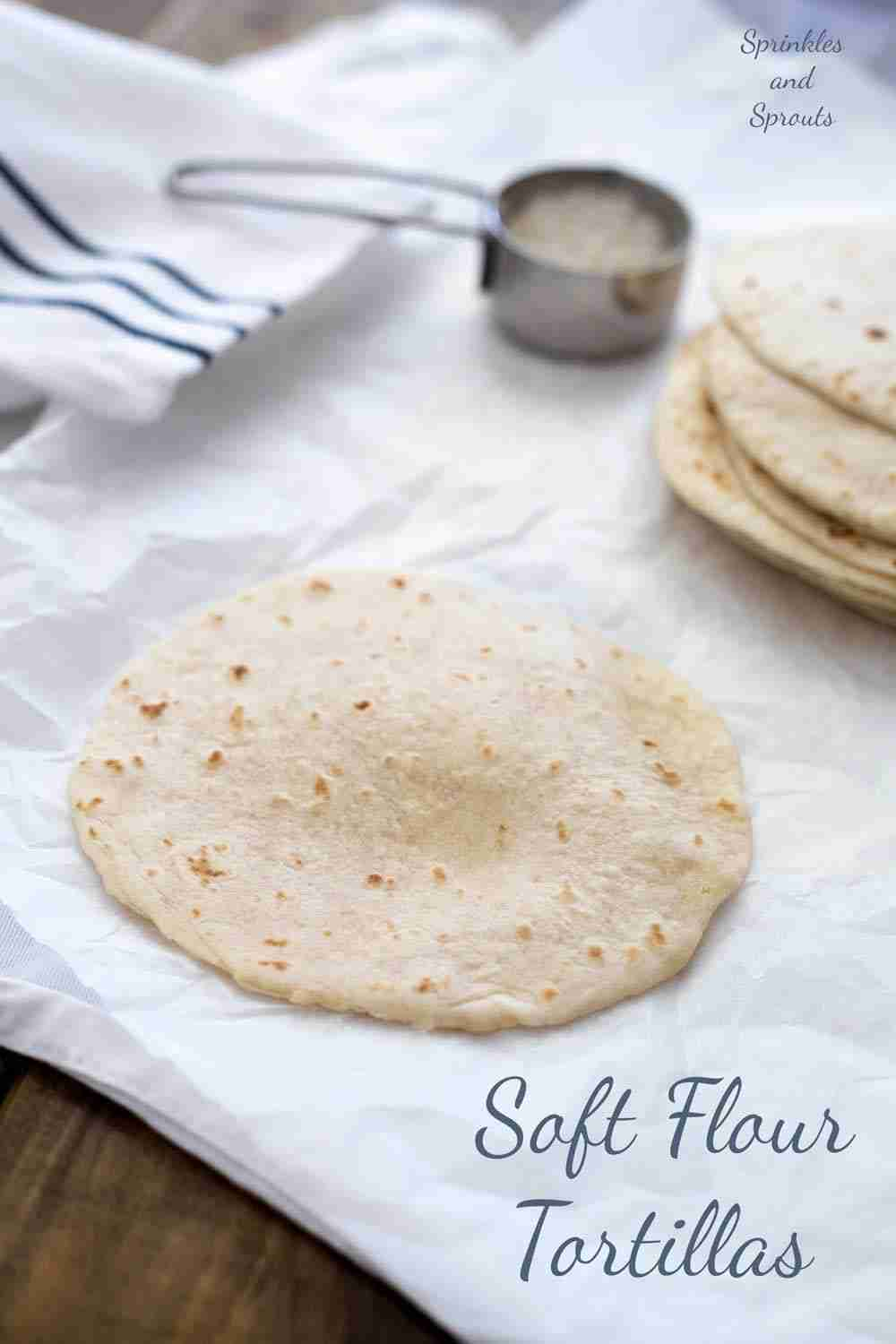 Homemade Soft Tortilla Wraps   Sprinkles and Sprouts