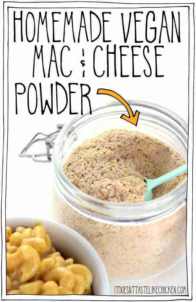 Homemade Vegan Mac & Cheese Powder