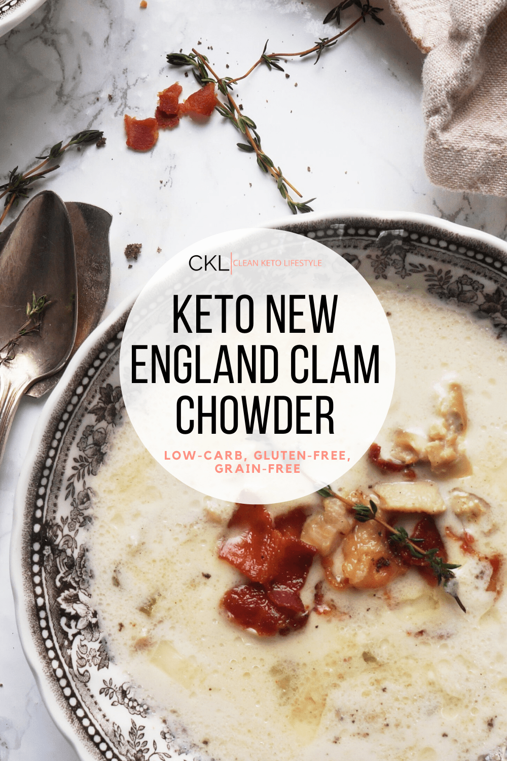 Keto New England Clam Chowder | Clean Keto Lifestyle