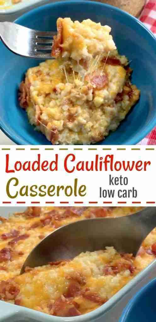 Loaded Cauliflower Casserole – Keto / Low Carb – Linneyville