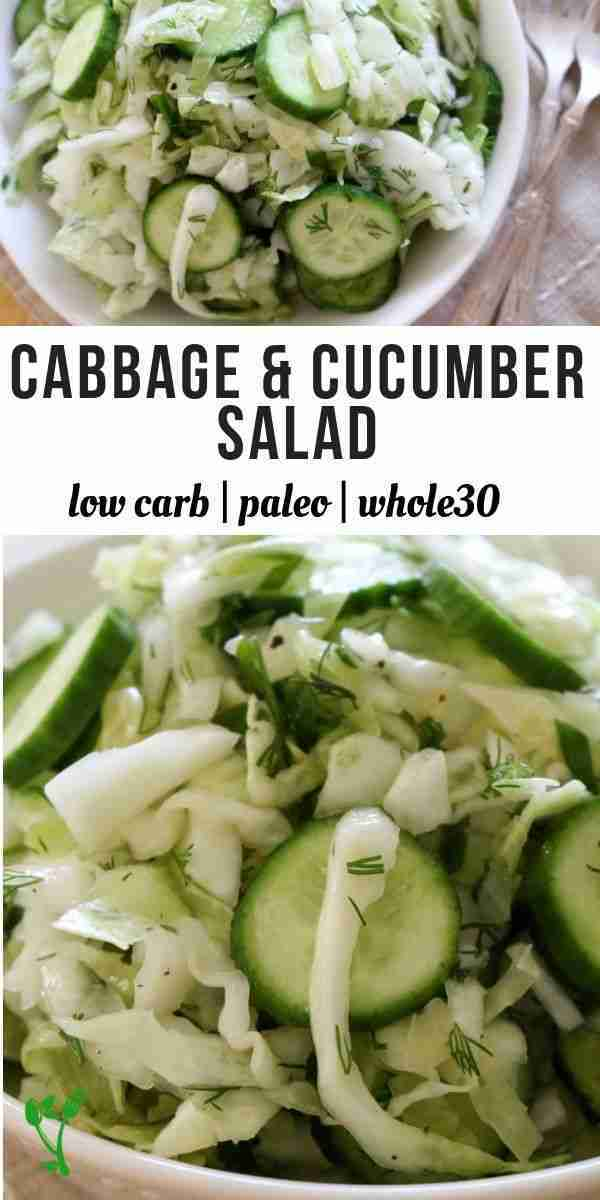 Low-Carb Cabbage Cucumber Salad (Paleo, Keto, GAPS) +VIDEO – Prepare & Nourish