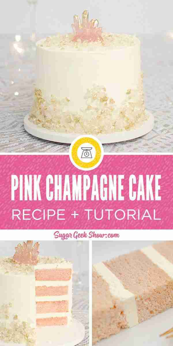 Pink Champagne Cake With Sugar Bubbles